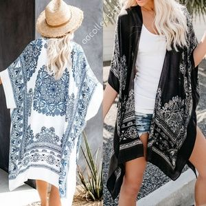 90cadb80c3 Accessories - Mandala kimono paisley print scarf beach coverup